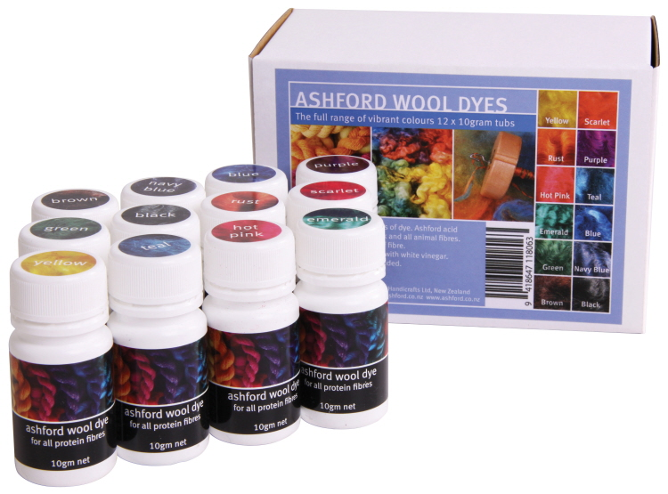 A193 Wool Dye Rainbow Collection (12 x 10g) Image