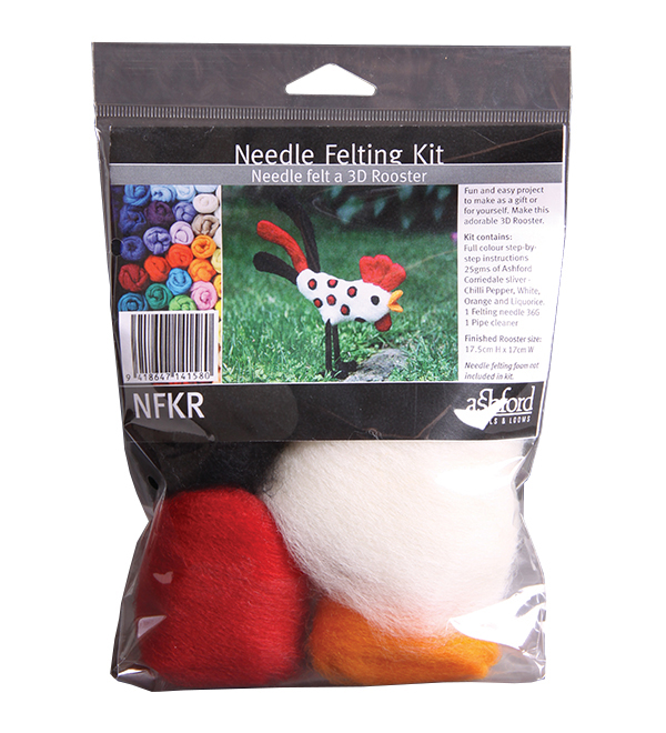 A318 Needle Felting Kit - Rooster Image