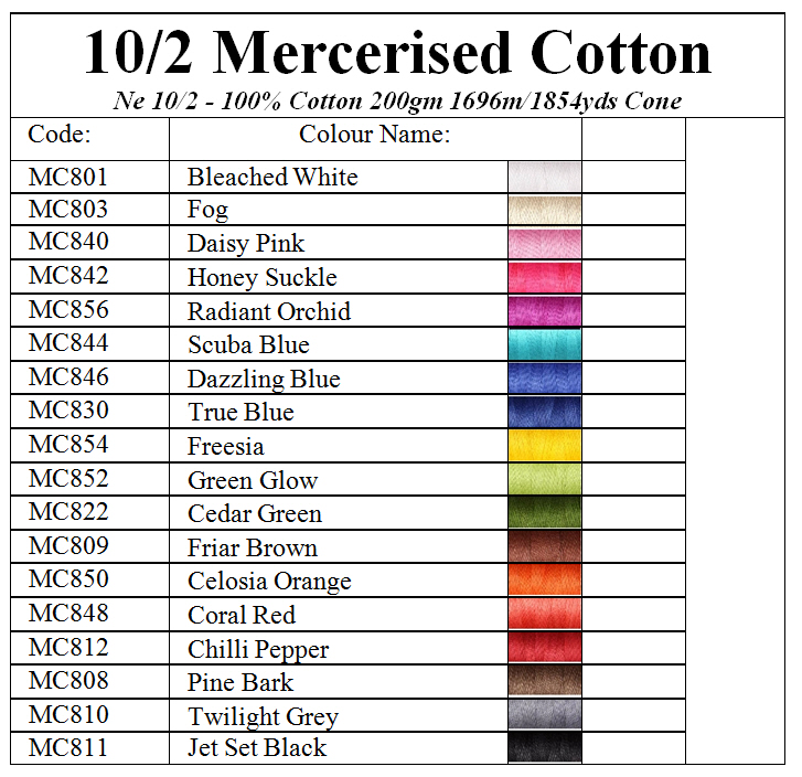 Ashford 10/2 Mercerised Cotton 200g Image