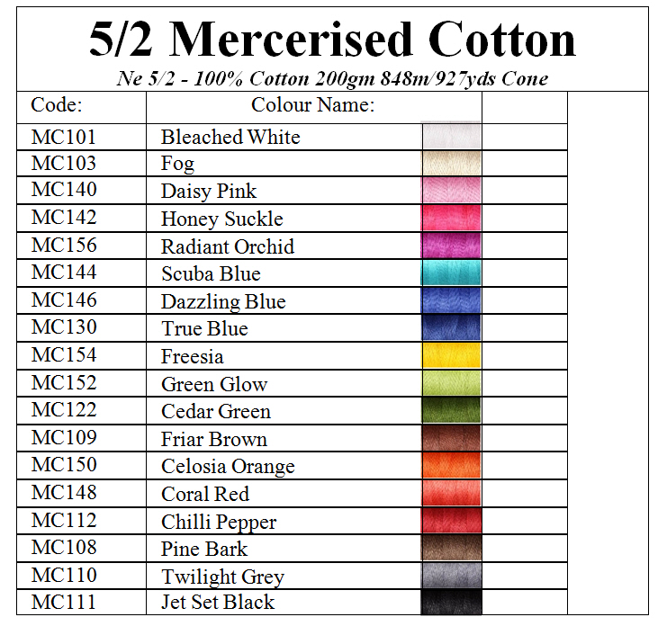 Ashford 5/2 Mercerised Cotton 200g Image