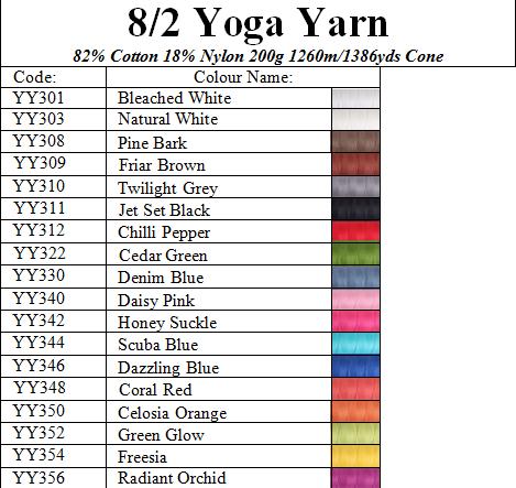Ashford 8/2 Yoga Yarn 200g Image